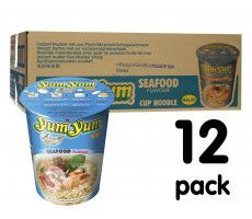 Yum Yum Cup Noedels Seafood - 12-pack